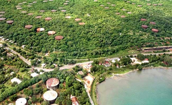 Trincomalee oil tanks