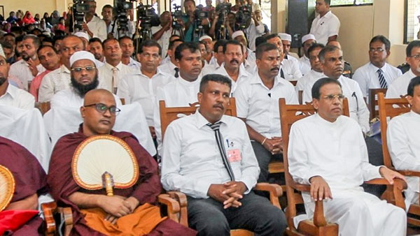 President Maithripala Sirisena at a ceremony in Polonnaruwa