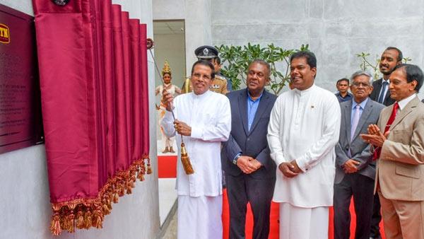 President Maithripala Sirisena at ITN