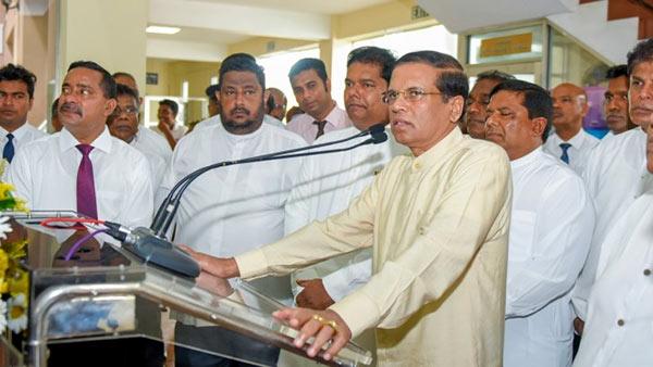Sri Lanka President on flood disaster management meeting