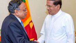 Bangladesh foreign Minister AH Mahmood with Sri Lanka President Maithripala Sirisena