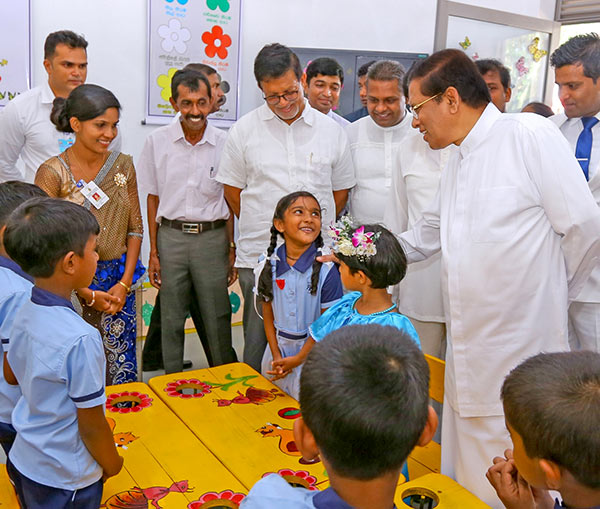 President Maithripala Sirisena at Polonnaruwa President primary college