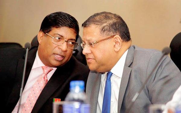 Ravi Karunanayake with Arjun Mahendran