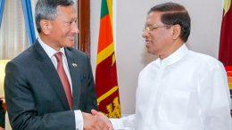 Singaporean Minister for Foreign Affairs, Dr Vivian Balakrishnan has met Sri Lanka President Maithripala Sirisena