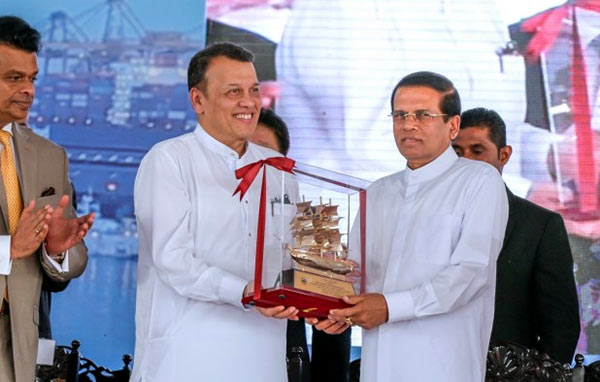 Mahinda Samarasinghe with Maithripala Sirisena