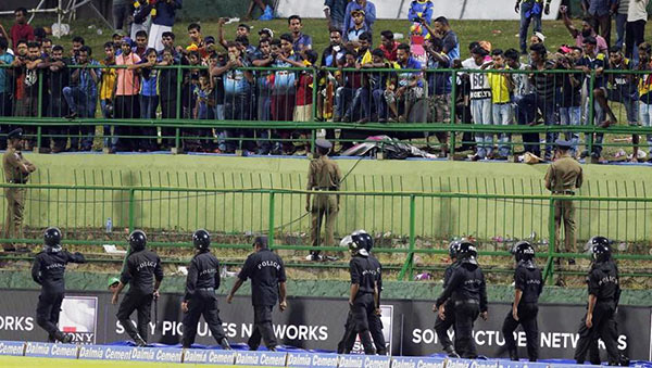 Crowd violence in Pallekele