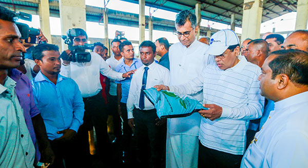 President Maithripala Sirisena at Karadiyana Waste Management Project