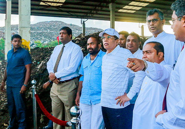 President Maithripala Sirisena at Karadiyana Waste Management Project