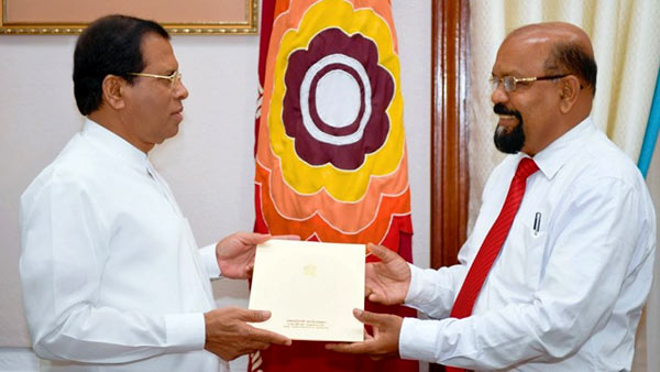 President Maithripala Sirisena donates