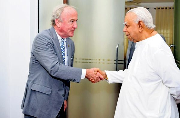 R Sampanthan with Rodney Frelinghuysen