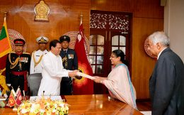 Thalatha Atukorala take oath as new Justice Minister
