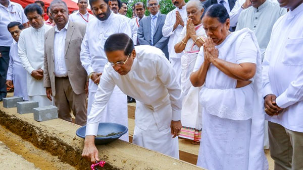 The foundation stone laying ceremony of the 'Pandith Amaradeva Sangeetha Asapuwa'