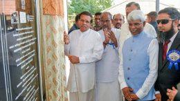 President Maithripala Sirisena is at Agricultural Services Training center in Karadiyanaru in Batticaloa