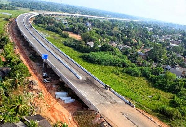 Image result for long-delayed expressway in central Sri Lanka,