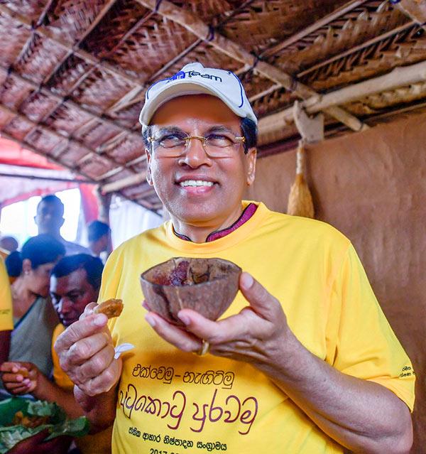 Sri Lanka President Maithripala Sirisena at National food production battle