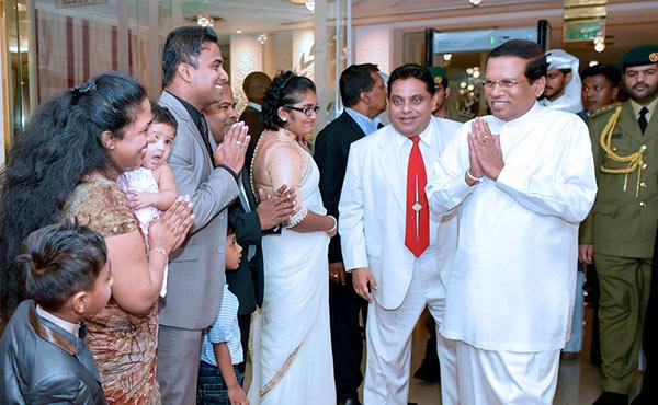 Sri Lanka President Maithripala Sirisena in Qatar