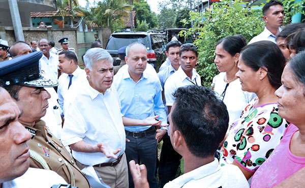Sri Lanka Prime Minister Ranil Wickremasinghe at Ginthota