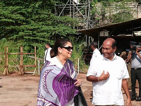 Rosi Senanayake is at bond commission