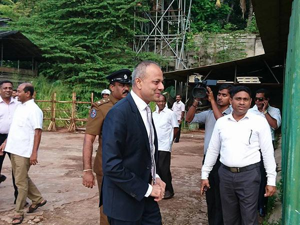 Sagala Ratnayake is at bond commission