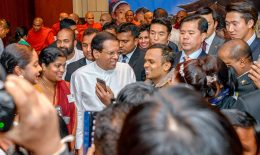 Sri Lanka President Maithripala Sirisena in South Korea