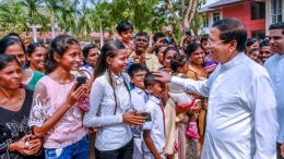 Sri Lanka President Maithripala Sirisena is at Nikaveratiya