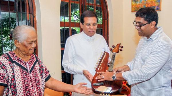 Sri Lanka President Maithripala Sirisena has met Vimala Amaradewa and Ranjan Amaradeva