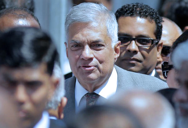 Sri Lanka Prime Minister Ranil Wickremasinghe at bond commission