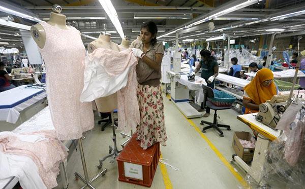 Timex garments factory in Wattala, Sri Lanka