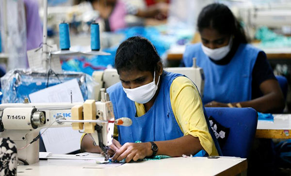 Timex garments factory in Wattala, Sri Lanka
