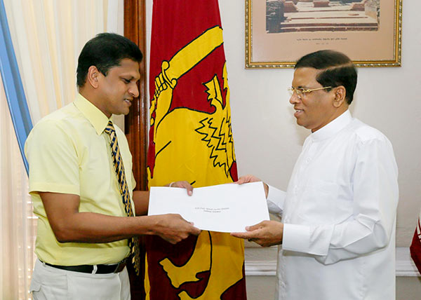 Nimal Lansa with President Maithripala Sirisena