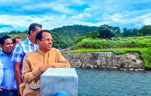 Sri Lanka President Maithripala Sirisena at Moragahakanda