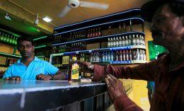 Alcohol shop in Sri Lanka
