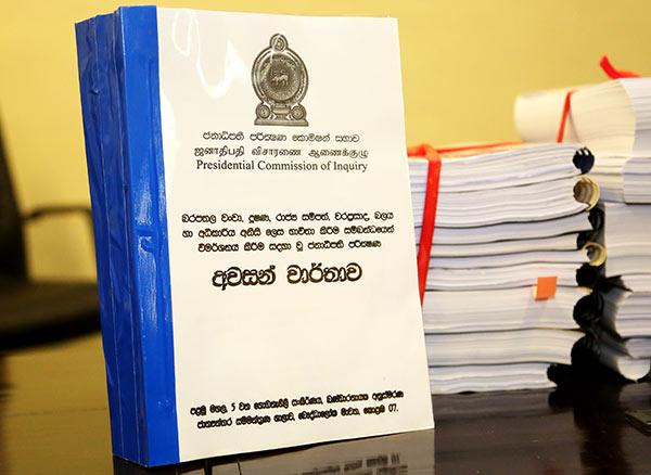 Final report of PRECIFAC Presidential commission of inquiry of Sri Lanka