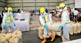 Largest haul of seized cocaine destroyed in Sri Lanka