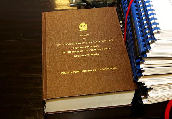 The bond commission report of Sri Lanka