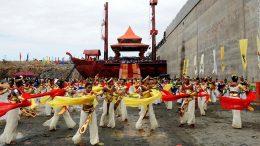 Hambantota port opening ceremony dance
