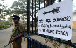Polling station in Sri Lanka