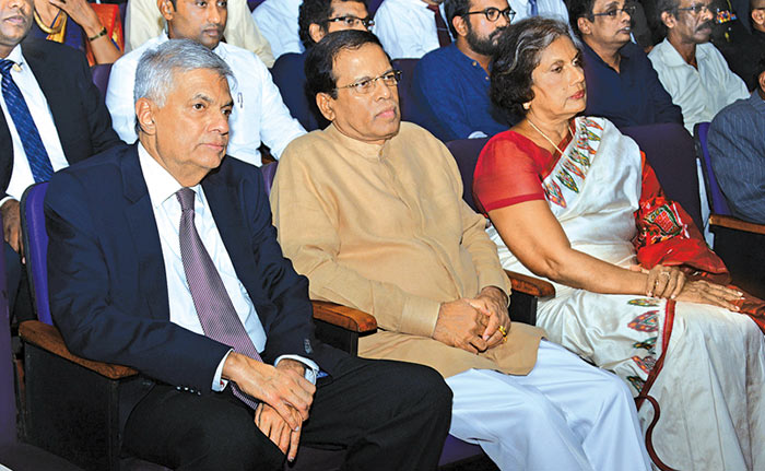 Ranil Maithripala and Chandrika