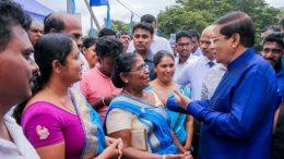 Sri Lanka President Maithripala Sirisena in Sevanapitiya Polonnaruwa
