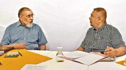 CV Wigneswaran with Mangala Samaraweera