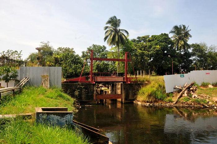 Flood gates in Colombo Sri Lanka