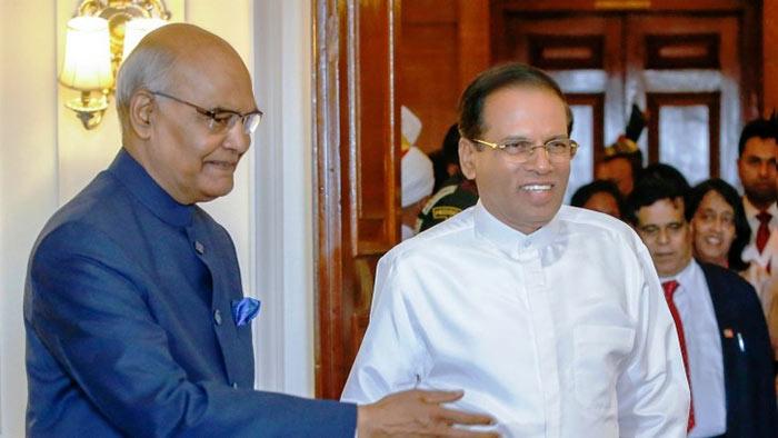 India President Ram Nath Kovind with Sri Lanka President Maithripala Sirisena
