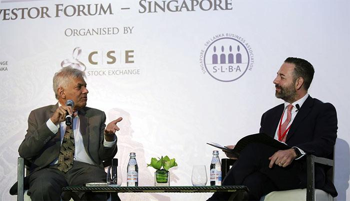Invest Sri Lanka forum in Singapore