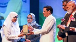 Sri Lanka President Maithripala Sirisena addressing the 100th Anniversary Celebration of the Fathima Muslim Ladies College