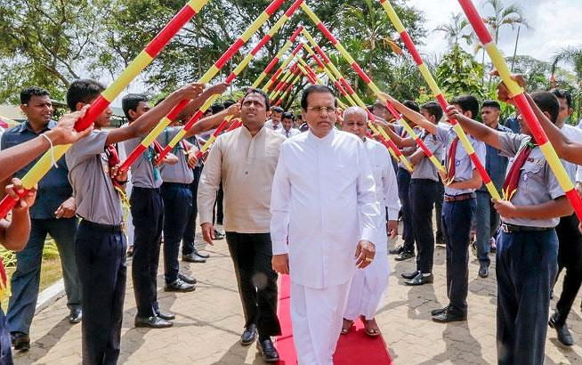 Sri Lanka President Maithripala Sirisena at Polonnaruwa Royal college