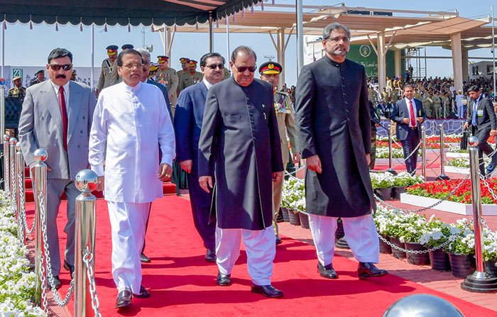 Sri Lanka President Maithripala Sirisena at the Pakistan republic day celebrations