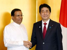 Sri Lanka President Maithripala Sirisena met Japanese Prime Minister Shinzo Abe