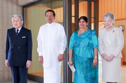 Sri Lanka President Maithripala Sirisena met with Japanese Emperor Akihito