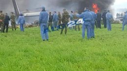 A plane crash in Algeria