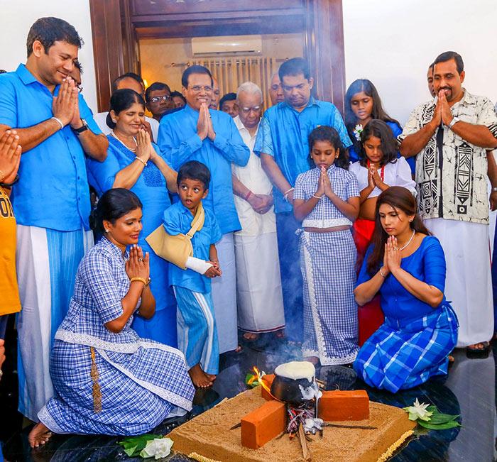 New Year celebration by Sri Lanka President Maithripala Sirisena